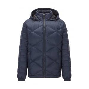 Obaron Coat in Dark Blue