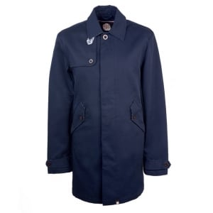 Pretty Green Trench Coat in Navy
