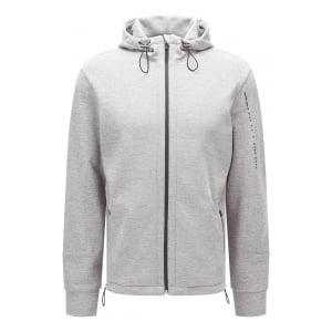 Boss Black Loungewear Jacket Hooded in Grey