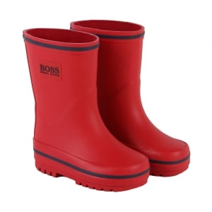 Boss Kids Wellies in Red