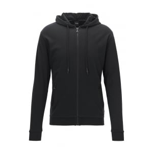 Hooded Jacket Loungewear in Black
