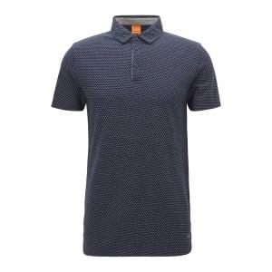 Boss Orange Perfect Polo Shirt in Navy