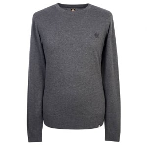 Pretty Green Knitwear Crew Neck Jumper in Dark Grey