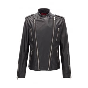 Likeer Leather Jacket in Black