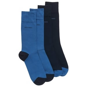 Boss Black 2 Pack RS Heel Socks in Dark Blue
