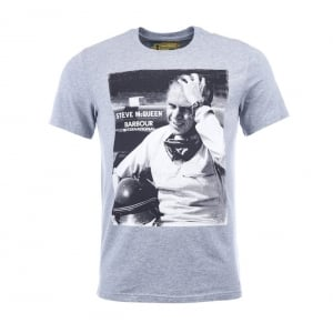 Barbour International Close Up T-Shirt in Grey
