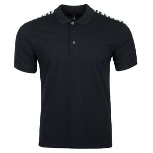 Versus Versace Shoulder Logo Polo Shirt in Black