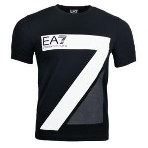 Ea7 Big Logo T-Shirt in Black
