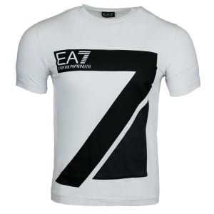Ea7 Big Logo T-Shirt in White