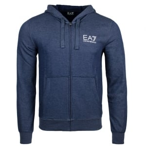 Ea7 Core Hooded Sweatshirt in Navy