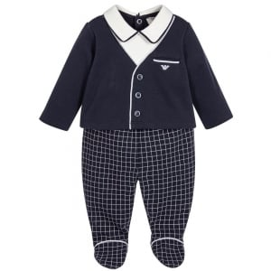 Armani Junior Top and Bottom Gift Set in Navy