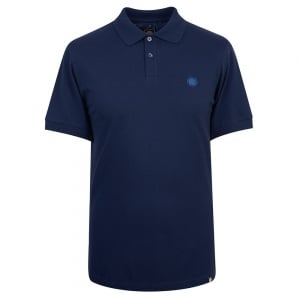Pretty Green Pique Polo Shirt in Navy