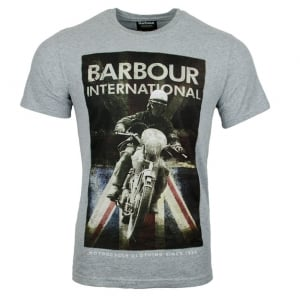 Barbour International Shift T-Shirt in Grey