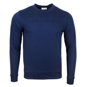 Lacoste Embossed Sweatshirt in Navy
