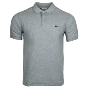 Ribbed Polo Shirt in Grey