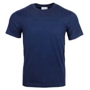 Lacoste Embossed T-Shirt in Navy