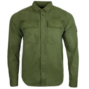 Noir Military Shacket Shirt in Green