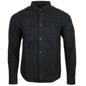 Noir Military Shacket Shirt in Black