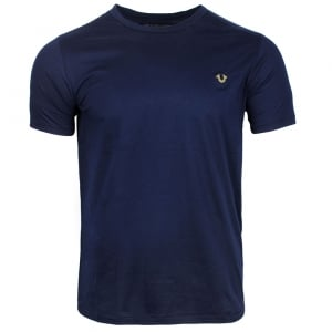 True Religion Logo T-Shirt in Navy