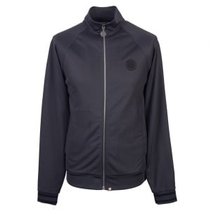 Pretty Green Zip Through Track Top Jacket in Dark Grey