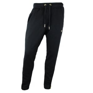 True Religion Metal Logo Jogging Bottoms in Black
