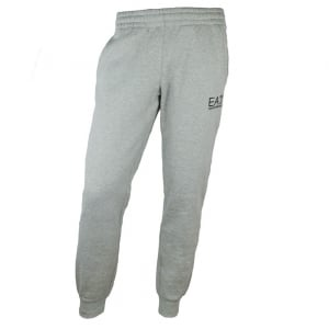 Ea7 Jersey Jogging Bottoms in Light Grey
