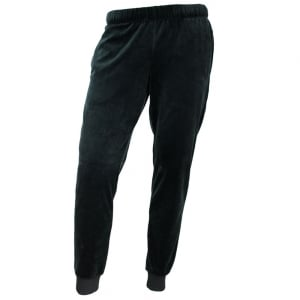 Velour Jogging Bottoms in Black