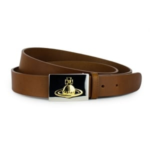 Vivienne Westwood Square Buckle Belt in Brown