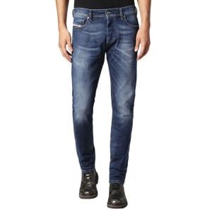 "Diesel Tepphar 23 30"" Short Leg Jeans in Mid Wash"