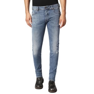 "Diesel Sleenker 30"" Short Leg Jeans in Light Wash"