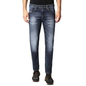 """Diesel Thommer 6 30"""" Short Leg Jeans in Dark Wash"""