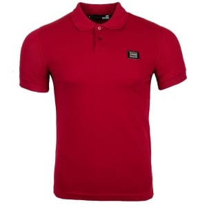 Metal Crest Polo Top in Red