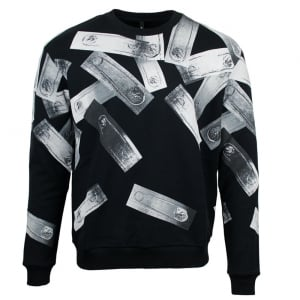 Safety Pin Sweatshirt in Black
