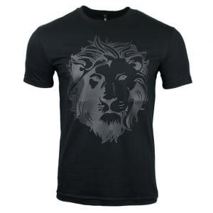 Lion Print T-Shirt in Black