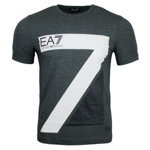 Ea7 Big Seven T-Shirt in Dark Grey