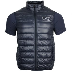 Ea7 Body Quilted Jacket in Dark Grey