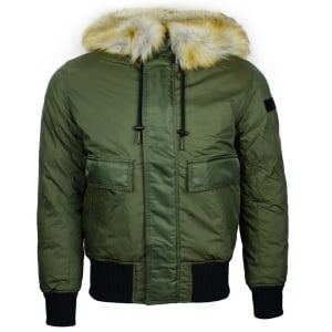 Diesel W-Galt Coat in Green