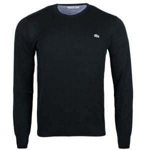Lacoste Logo Knitwear in Black