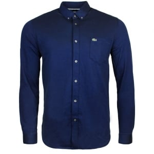 Lacoste Polo Buttoned Collar Shirt in Navy