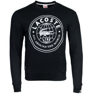 Lacoste Live Globe Sweatshirt in Black