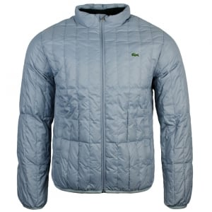 Lacoste Quilted Coat in Silver