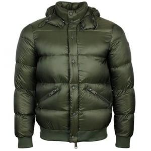 Armani Jeans Puffer Coat in Green
