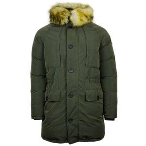 Armani Jeans Fur Coat in Green
