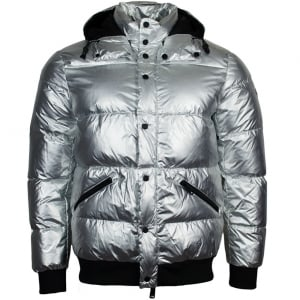 Armani Jeans Spaceman Coat in Silver