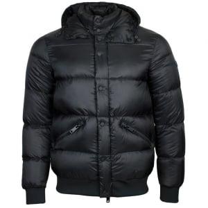 Armani Jeans Puffer Coat in Black