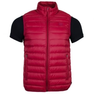 Armani Jeans Body Quilted Gilet Jacket in Red