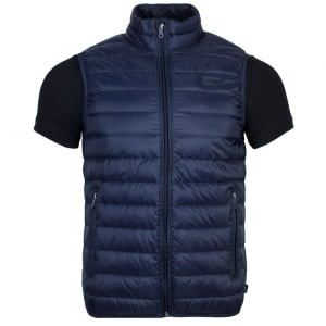 Armani Jeans Body Quilted Gilet Jacket in Navy