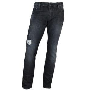 "Armani Jeans J06 Slim 32"" Regular Leg Jeans in Grey"