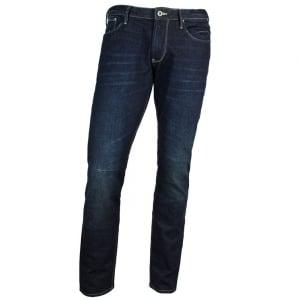 "Armani Jeans J06 Slim 32"" Regular Leg Jeans in Dark Wash"
