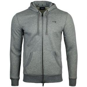 Armani Jeans Logo Hooded Sweatshirt in Grey
